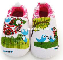Lovely toddler shoe, lovely bird design baby shoe