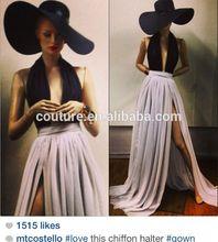 2014 Michael Costello tokyo av long customized made design love evening dress TS070 imitation celebrity dresses
