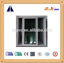 Economical PVC 88 series sliding door, double glass with handle lock sliding door
