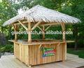 Palha de bambu gazebo / sintético de palha de madeira ao ar livre pérgolas gazebo