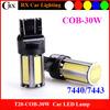 New Design T20 7440 7443 T25 3156 3157 10-30V 1200LM COB 30W 24v led truck lights