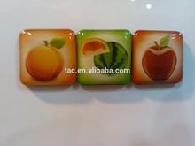 Advertisng acrylic fridge magnet wholesale China supplier/tourist souvenir epoxy fridge magnet