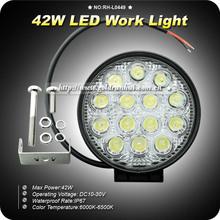 GoldRunhui RH-L0449 Led Work Light 42w Spot/flood Waterproof Driving Work Light Bar
