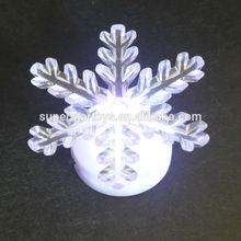 hot sell flashing night light, promotional snowflake night light SPX8-01-4