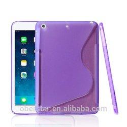 New For Apple iPad mini 2 S Line Design TPU Clear Soft Gel Cover Case