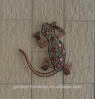 garden decorative metal wall art lizards