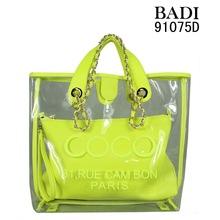 customized bags/logo/slogan print jelly handbags