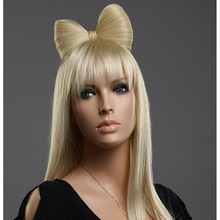 Hot Sale Synthetic Blonde Lady GaGa Lace Wig With Bow