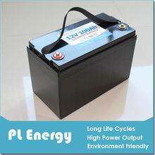 lifepo4 lithium 12v 100ah solar storage battery pack