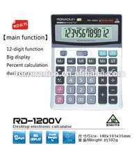 desktop calculator cover 12 digits calculator 1200V solar calulator office calculator