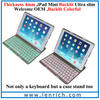 LBK196 Mini Kee F2S New Arrival Tablet Wireless backlit LED Bluetooth Keyboard with Stand Hard Case Cover for iPad Mini