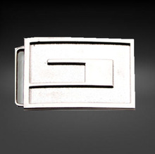 Square shape silver pin belt buckle men new design