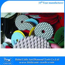 Hand Polisher Diamond Abrasive Dry Polishing Pads For Stone