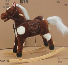 Quality&Lovely Stuffed Soft fashion chrisha playful plush rocking horse