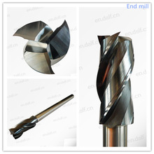 special customized coated hss solid tungsten carbide high quality flat end mill metal milling cutter