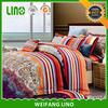 reactive printed satin 100% cotton 4pcs bed coloring sheet