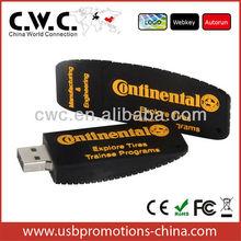 OEM Rubber tyre USB flash drive PVC/SILICONE USB flash drive 2GB/4GB/8GB Certificated FCC/CE/ROHS Custom solution
