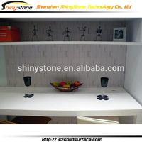 Fantastic cafe bar acrylic solid surface 6 cluster office desk