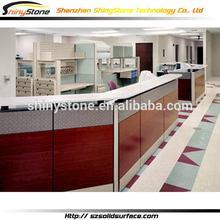Translucent hospital lab translucent stone kitchen cabinet painting