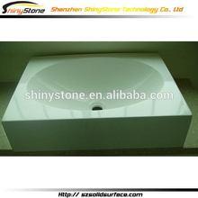 Contemporary modern restaurant solid surface glass basin bathroom furniture