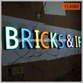 3D de canaleta frontlit letra metal famosos logos marca de café