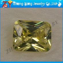 Rectangle peridot yellow semi precious gemstone
