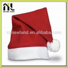100% Polyester Felt Hot selling decoration Santa Caps Christmas Hat