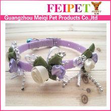 Fashion nylon purple dog collar