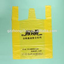 Hot sale custom printing cheap plastic bags t-shirt bag for retail shop