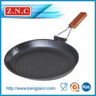 Carbon steel nonstick baking pan with wooden handle