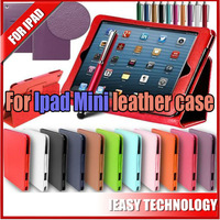 PU Leather Case Cover With Swivel Stand For iPad Mini