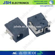 3.9mmX 1mm/1.3mm pin 4feet mounting DC power jack DC033(SMT)