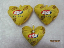 Promotion polyester folding shopping bag in heart shaped