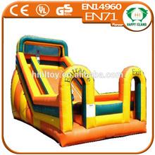 HI CE crazy 1.0mm PVC|TPU inflatable water slides wholesale