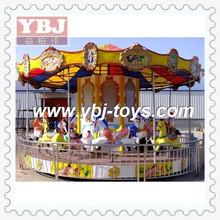2014 Amazing kids ride carousel amusement park horse fiberglass merry go round for sale