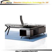 Contemporary modern restaurant solid surface unique executive office desk