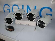 POE HD IP Security Camera 4ch NVR Kits Outdoor IR Waterproof