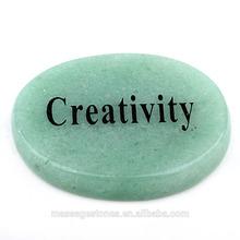 Engraved Wish Words Creativity on Healing Gemstone Picture Japer as Birthday Gift