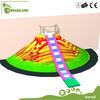 EU standard roller slide with volcano indoor playground