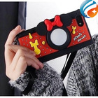 Free Shipping 2014 New Factory Supply 3D Cute Silicone Camera Minnie Mouse Phone Case for iphone 5 5s