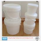 wholesale 2L clear plastic paint drums with lid for sale