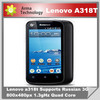 Multi languages Lenovo A318T MTK 6572T Dual Core 4.0'' Screen 800*480PX Android GPS WIFI Cheap Smart Phone