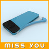 Nice beautiful design built-in usb cable power bank for mobile/phone