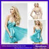 Latest Style Brand Name Sweetheart Neckline Beaded Bust Blue and Nude Organza Cocktail Dress 2014 (ZX058)