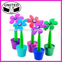 cheap plastic flower pens for promotion