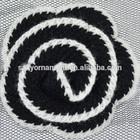 fashion lace elegant flower dress/hat lace black/white wool woven lace