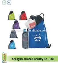 Front slip pocket and Mesh water bottle pocket Sidecar Drawstring Pack