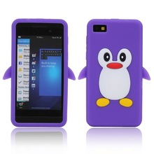 Cute 3D Penguin Pattern For Blackberry Z10 Soft Silicone Case