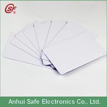 Epson printing blank white printable pvc card