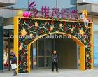 PVC Flower plants Decorations arches LED lights